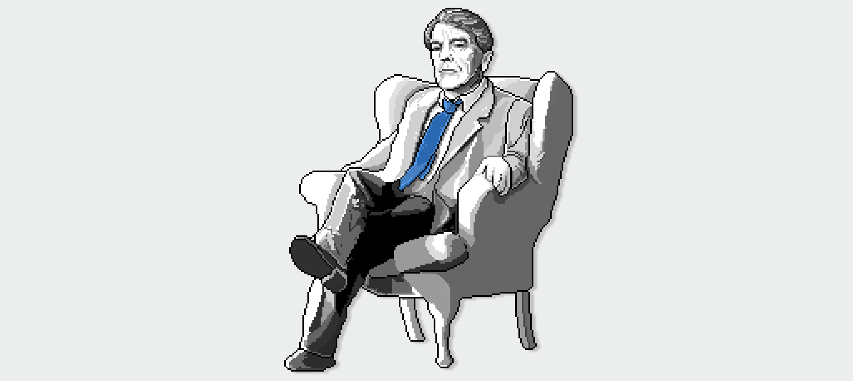 Pixel Protrait of Alan Clarke