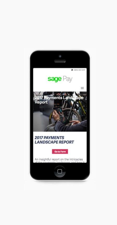 Email Campaign – Sage Payments Landscape Report